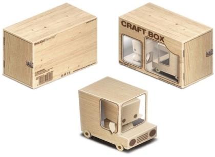Papercraft imprimible y recortable de un camión de madera. Manualidades a Raudales.