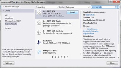 C++ REST SDK 2 0을 이용한 애플리케이션 개발 : 네이버 블로그