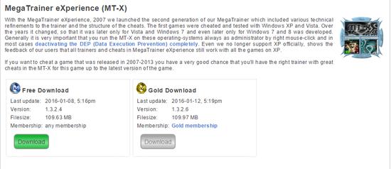 Mt x mega trainer experience premium