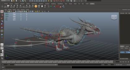 무료소스) Dragon Rig – Free Maya Rig, Free Dragon Rig for Maya