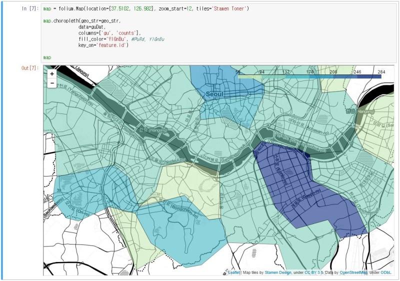 1120 웹 데이터 파싱, 지도 : 네이버 블로그