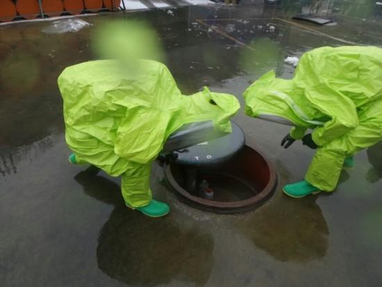 인천서부소방서, ㈜한일화학공사 화학사고 등 유해화학물질 사고 적응훈련 실시