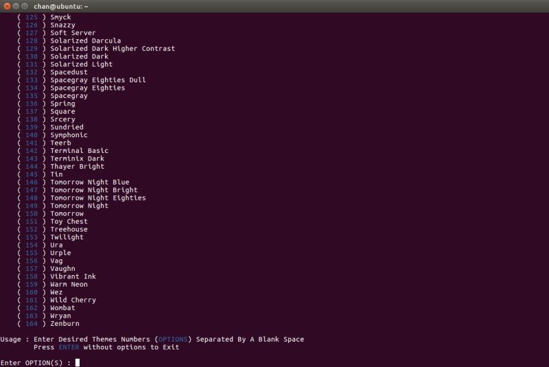 우분투 Ubuntu 터미널 theme 테마 colorscheme 색상 변경하는