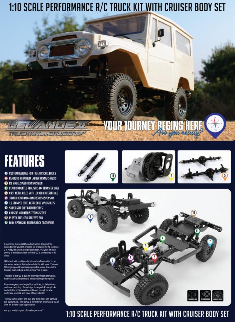 RC4WD R3 Scale Single Speed Transmission RC4ZU0028 Gelande 2 Cruiser Body ...