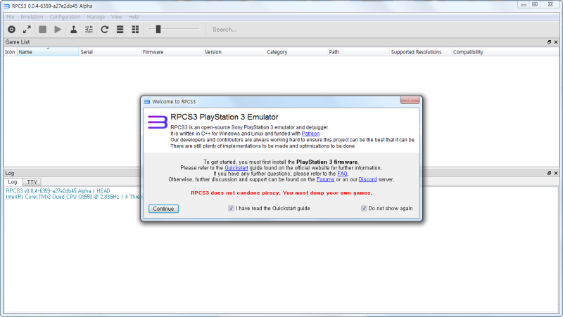 RPCS3 (플스3) 에뮬 구동 방법 : 네이버 블로그