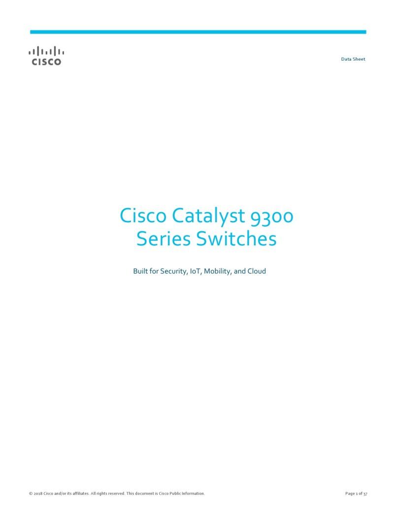 Cisco 9300 Datasheet